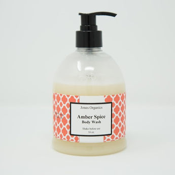 Amber Spice Body Wash Clean, Natural Body Products| Jones Organics