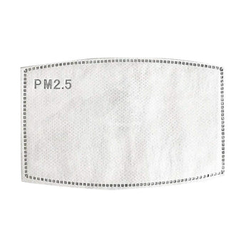 PM2.5 Filters 5 Layer Carbon Replacement Filter Insert For Washable Face Masks