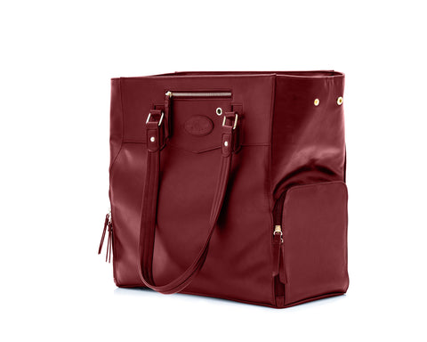 Josephine (Burgundy) Breast Pump Bag