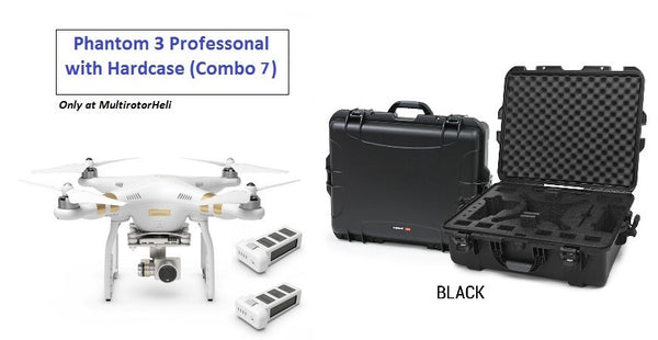 Phantom 3 Professional with Extra Battery + Nanuk Black Hardcase (Combo 7)