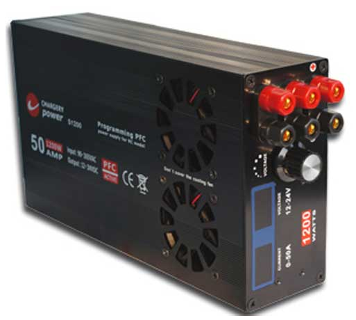 CHARGERY 50 AMP 11.5-24.5V 1200 WATT DC POWER SUPPLY WITH DIGITAL DISPLAY [HP-CHS1200]