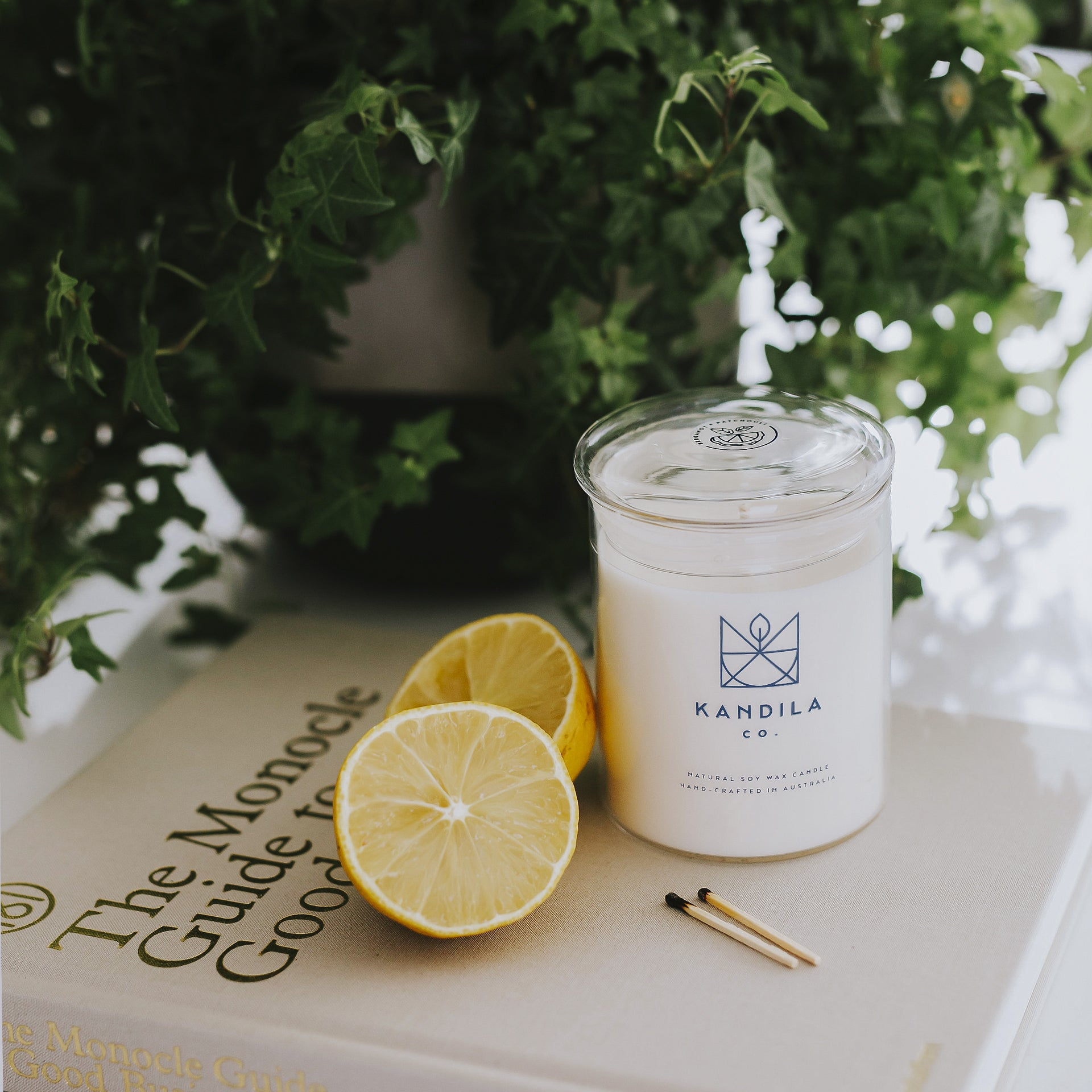 Kandila Company Bergamot and Patchouli Natural Vegan Soy Candle Melbourne Australia