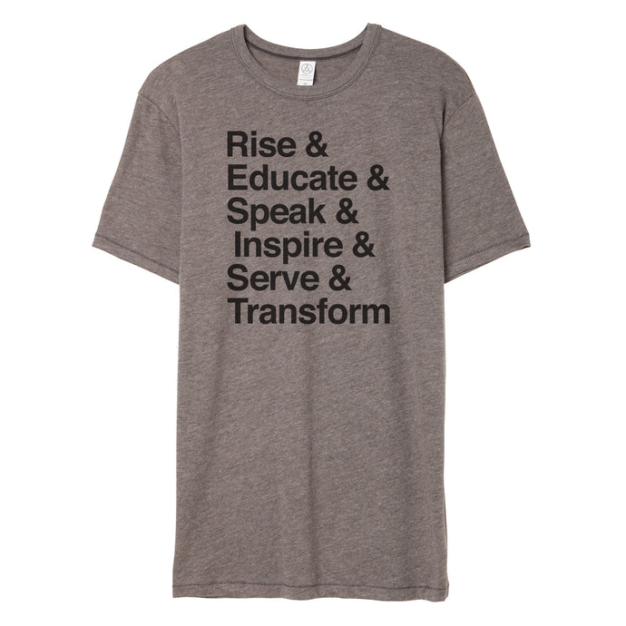 Rise & Educate & ... RESIST Ampersand List T-Shirt