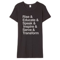 Rise & Educate.... RESIST Ampersand List T-Shirt // Women's