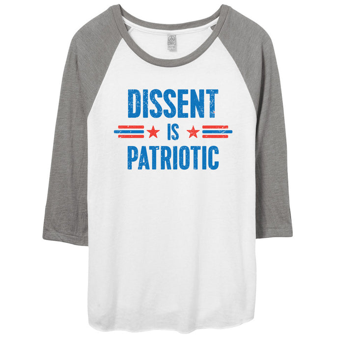Dissent Is Patriotic Shirt // Raglan Baseball Tee