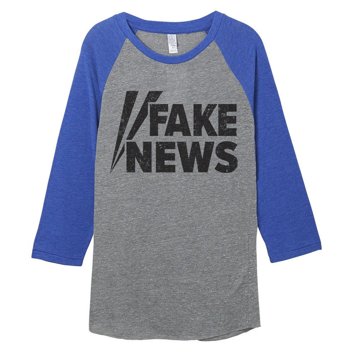 Fake News Shirt // Raglan Baseball Tee