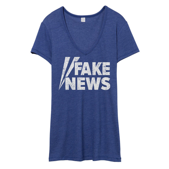 Fake News V-Neck // Women's
