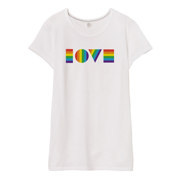 LGBTQ LOVE T Shirt // Women's
