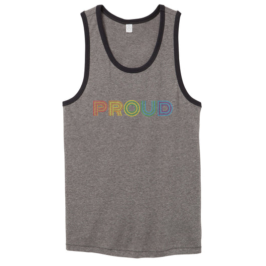 LGBTQ Proud Vintage Tank Top // Men's