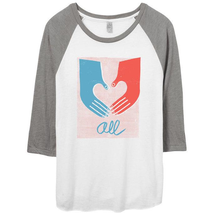 Love Draws Us All Shirt // Raglan Baseball Tee