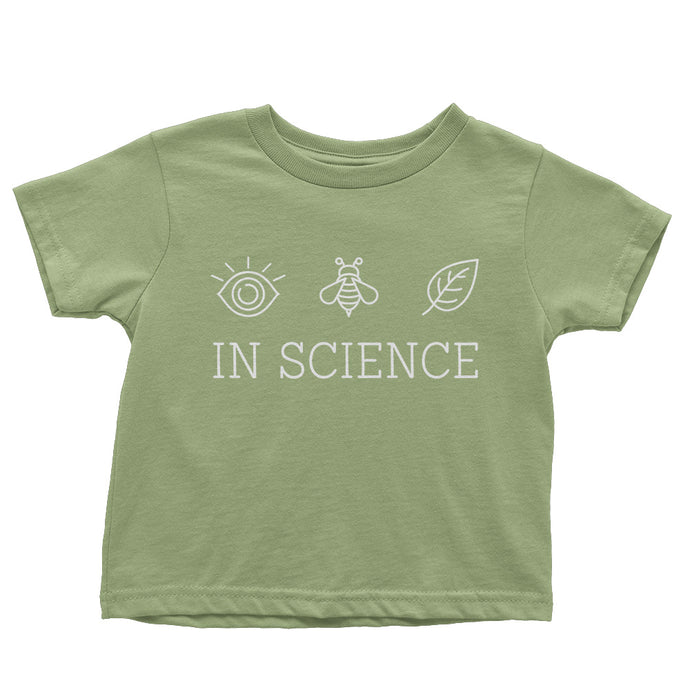 SALE: I Believe in Science Toddler Tee