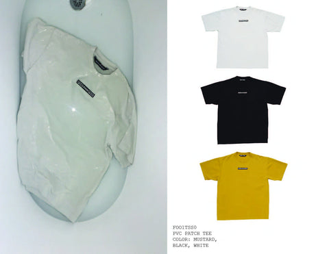 FOO AND FOO BASIC FOO TEE WHITE BLACK AND MUSTARD