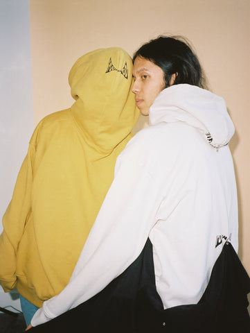 FOO AND FOO - GRACE PICKERING - WHITE AND MUSTARD HOODIES - LA STREETWEAR 2017