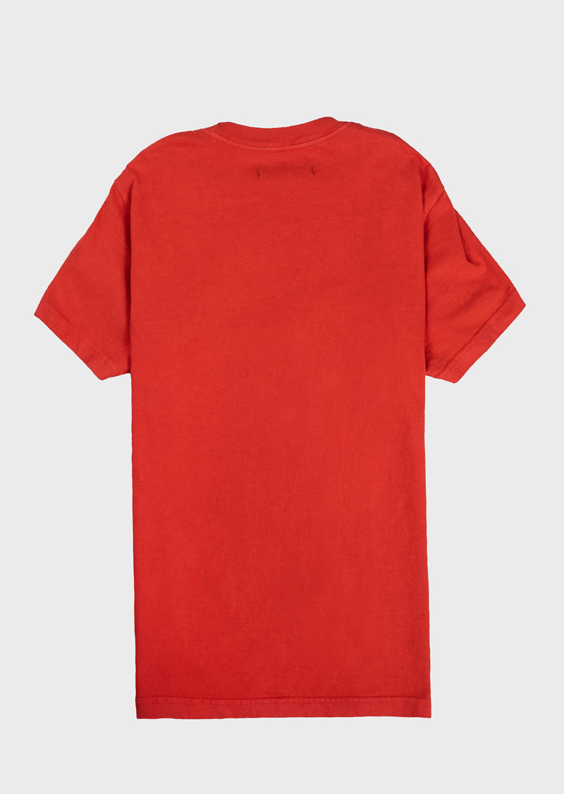 Sleeve Up Tee Red
