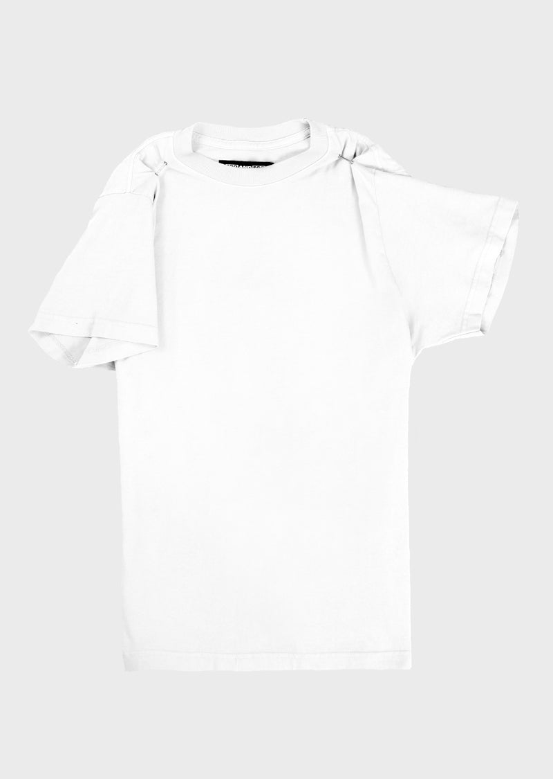 SLEEVE UP TEE WHITE