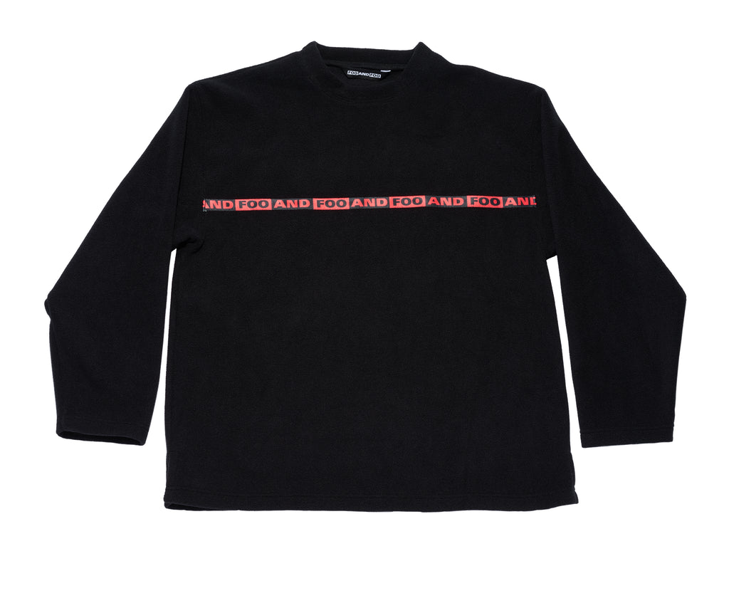 CREWNECK POLAR FLEECE SWEATSHIRT BLACK