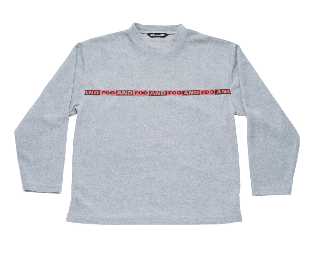 Crewneck Polar Fleece Sweatshirt Grey