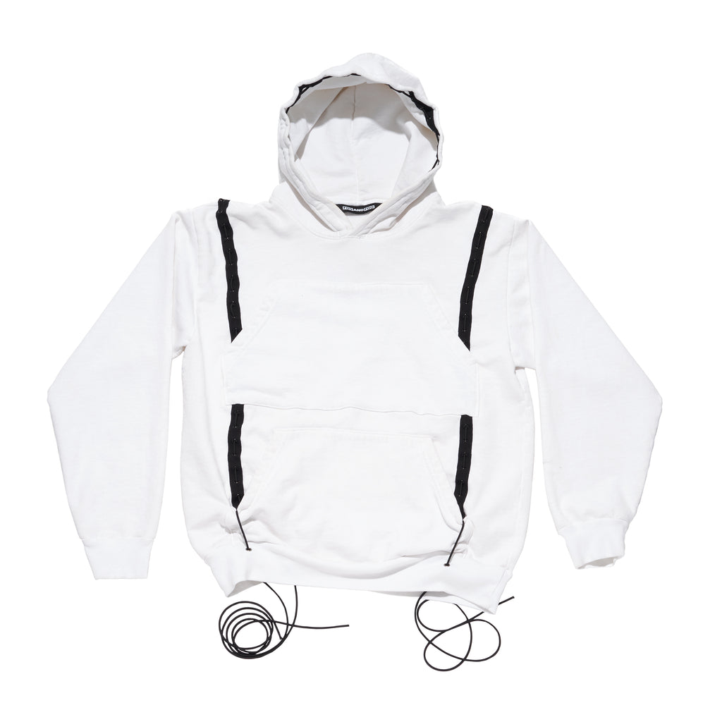 Mechanical Snake Hoodie White