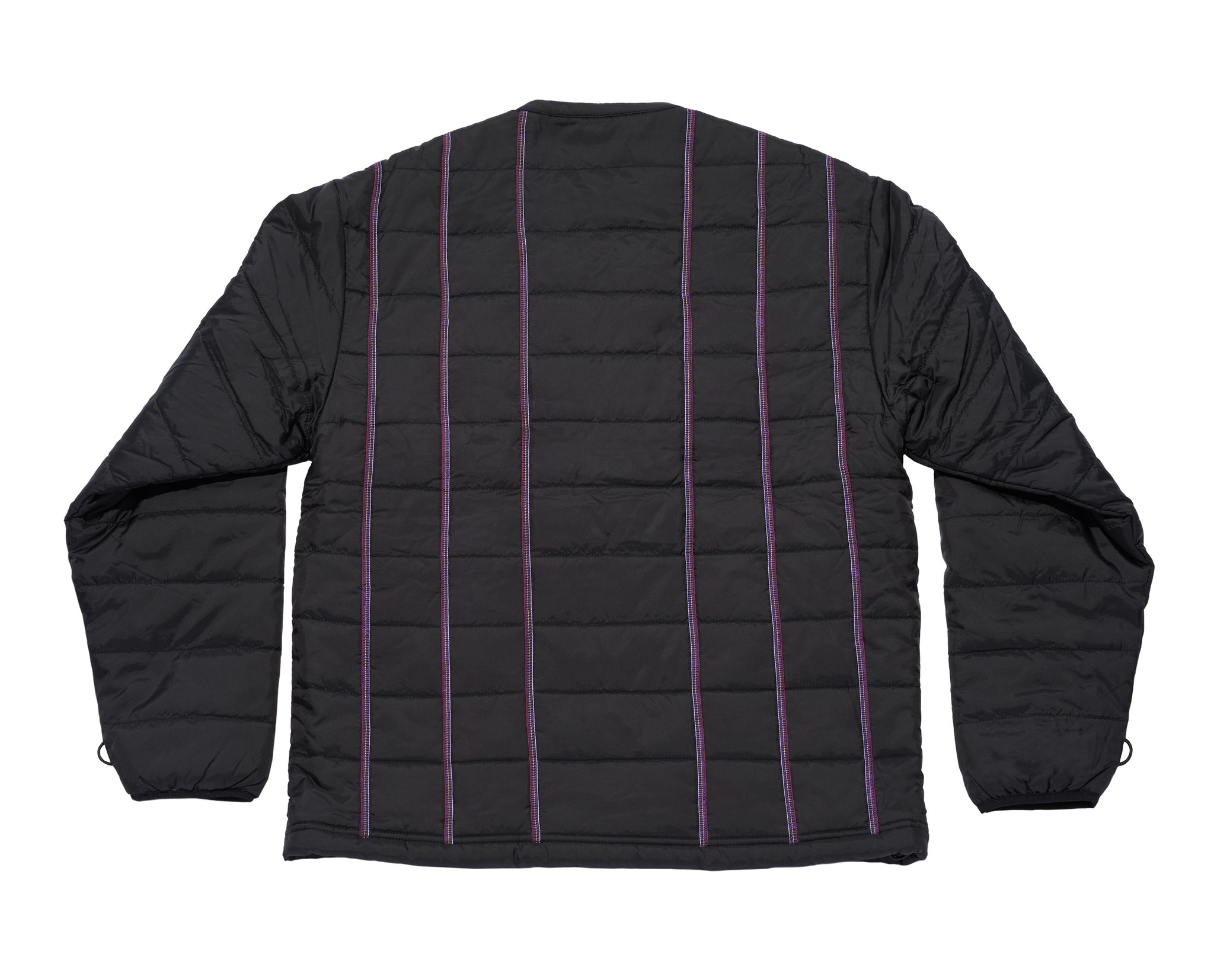 Multi  Stripe Jacket Black
