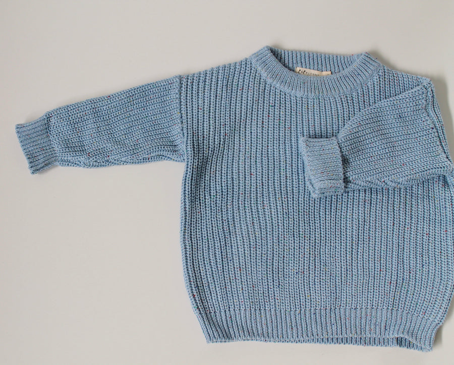 100's & 1000's Pullover - Baby Blue