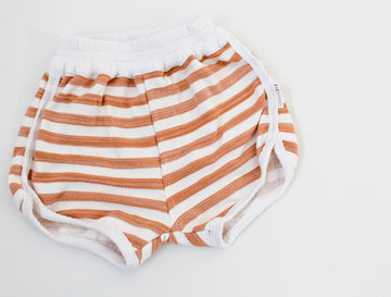 Vintage Track Shorts - Clay