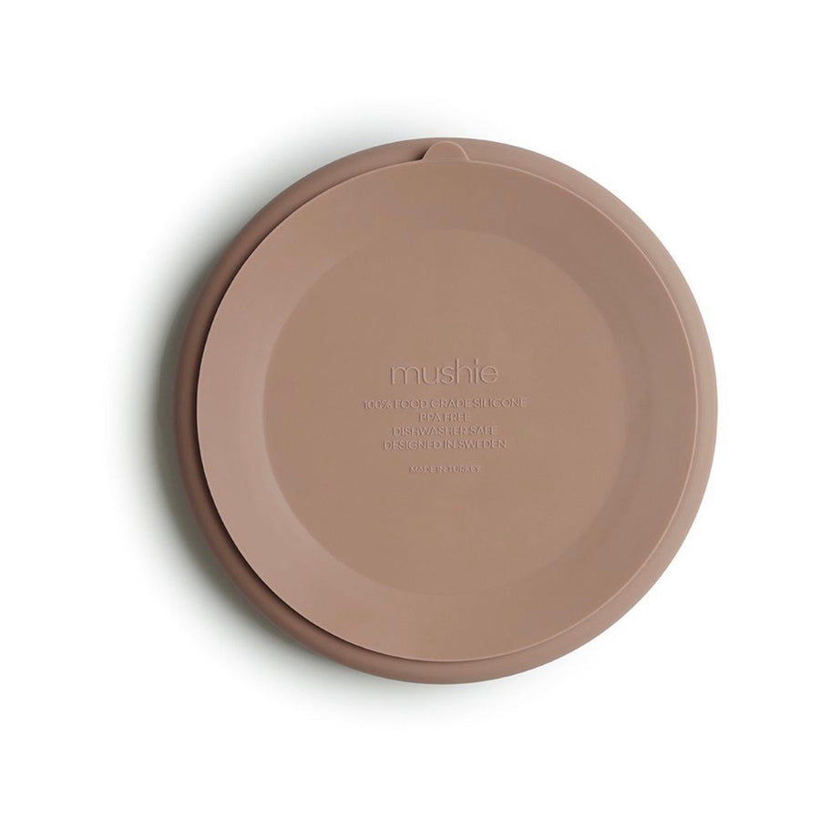 Mushie Silicone Suction Plate - Natural