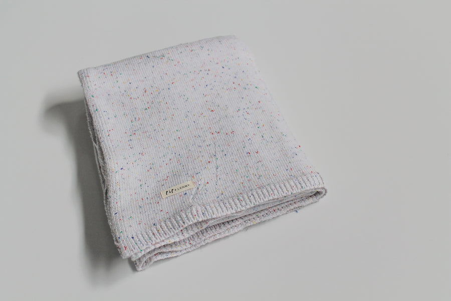 100's & 1000's Cotton Knit Blanket - Snow