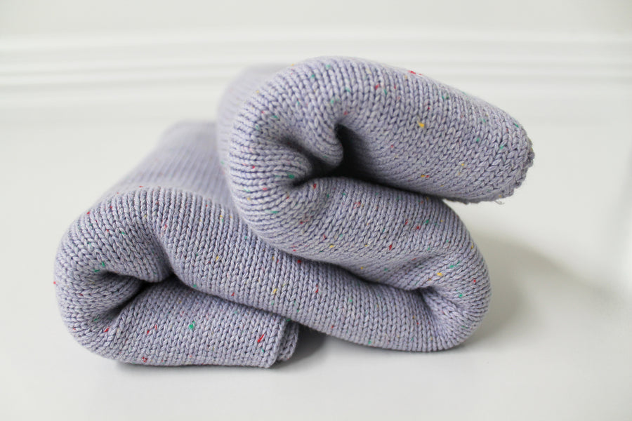 100's & 1000's Cotton Knit Blanket - Lilac