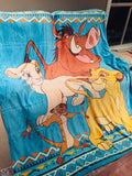 Lion King Plush Single/King Single Mink Blanket