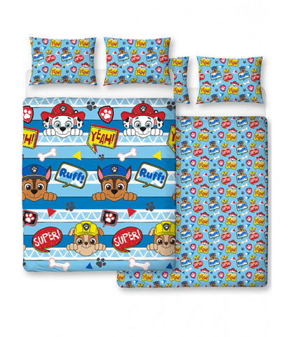 Paw Patrol Peek Double/Queen Reversible Duvet cover set
