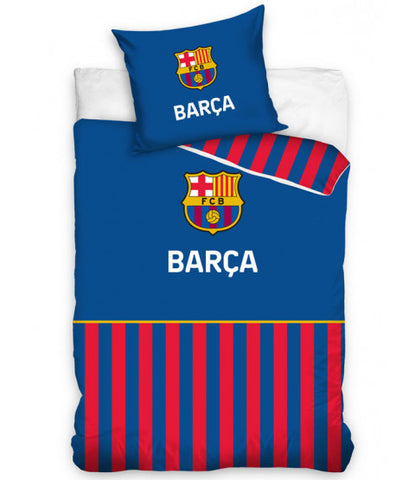 FC Barcelona Barça Stripe Single Duvet Cover Set