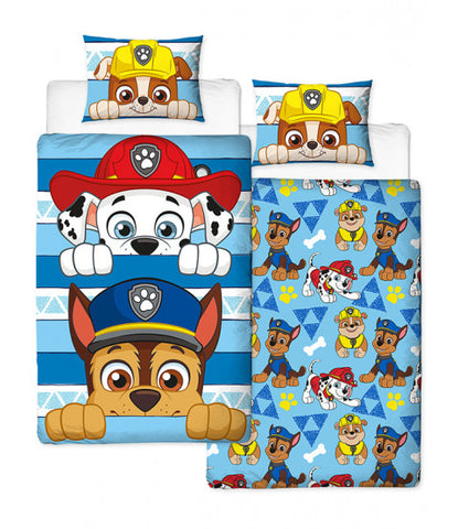 Paw patrol Peek Panel single reversible duvet cover set