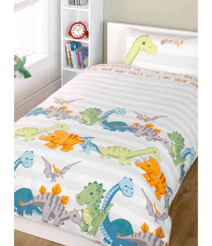 *NEW* Dinosaurs Natural Junior  Cover and Pillowcase Set