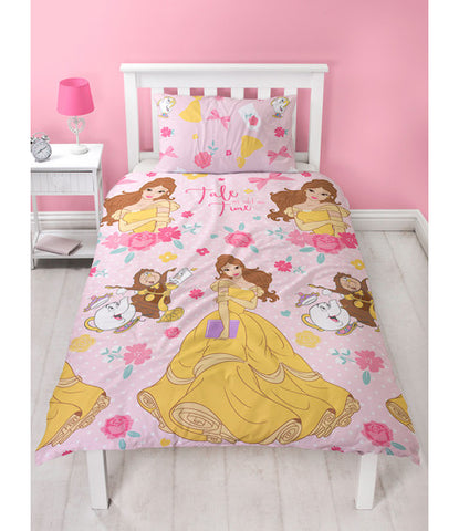 *NEW* Disney Princess Belle Single Reversible Duvet Cover set