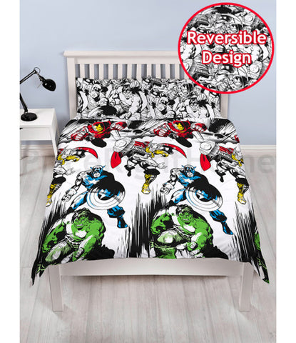 *NEW* Marvel Comics Crop Double/Queen Reversible Duvet Cover set