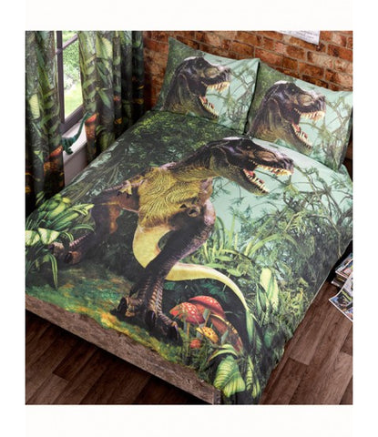 *NEW* T Rex Double/Queen Reversible Duvet Cover AND pillow case set