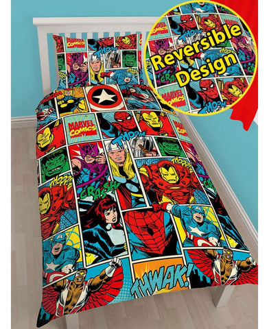Marvel Comics Single duvet cover set