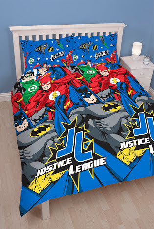 Justice League double/Queen reversible duvet cover set