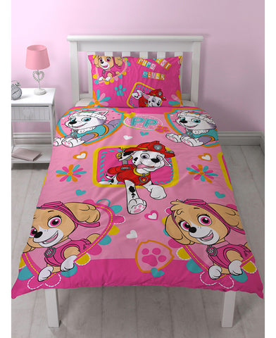 Paw patrol Skye/Everest Single Reversible Duvet cover set
