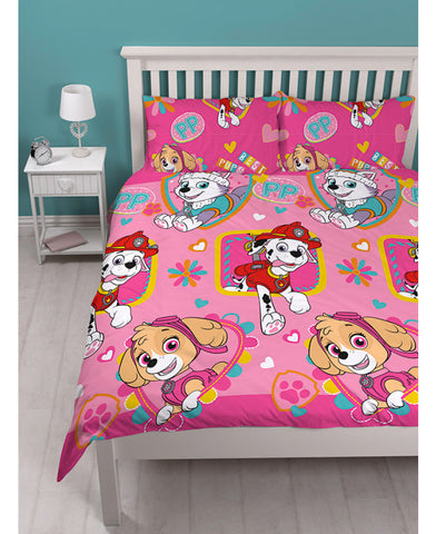Paw patrol Skye Double/Queen Reversible duvet cover set