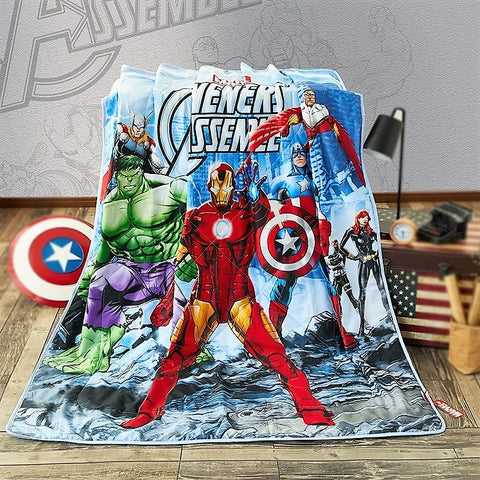 Marvel Avengers Cotton Single /King Single Summer Quilt/Comforter and pillow case set