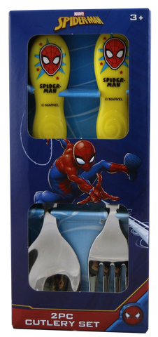Spiderman 2pce Stainless Steel Cutlery Set