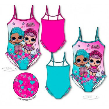 LOL Surprise Stars and Hearts Ruffle Swimsuit
