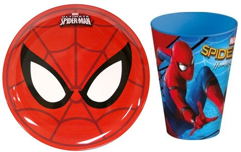 Spiderman Plate and cup Set