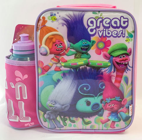 Trolls Poppy Insulated Lunch Bag and Bottle