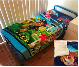 Paw Patrol Wool back single/king single blanket