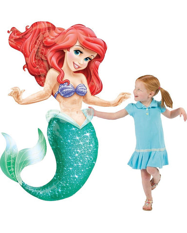 Air Walker Ariel Little Mermaid Foil Balloon