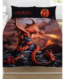 Anne Stokes Fire Dragon Double/Queen Duvet Cover and Pillowcase Set