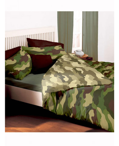Army Camouflage Reversible Double/Queen Duvet and Pillowcase Set