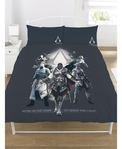 Assassin's Creed Serve The Light Double Duvet Cover Set